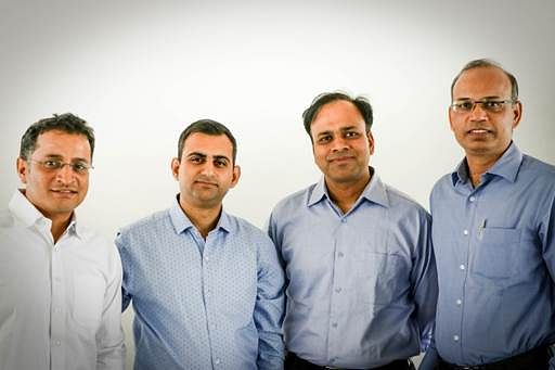 Left to right: Vivek Jain (Chief Technology Officer, CTO), Akshay Mehrotra (Chief Executive Officer, CEO), Ashish Goyal (Chief Financial officer, CFO) & Vimal Saboo(Chief Business officer, CBO), of EarlySalary.