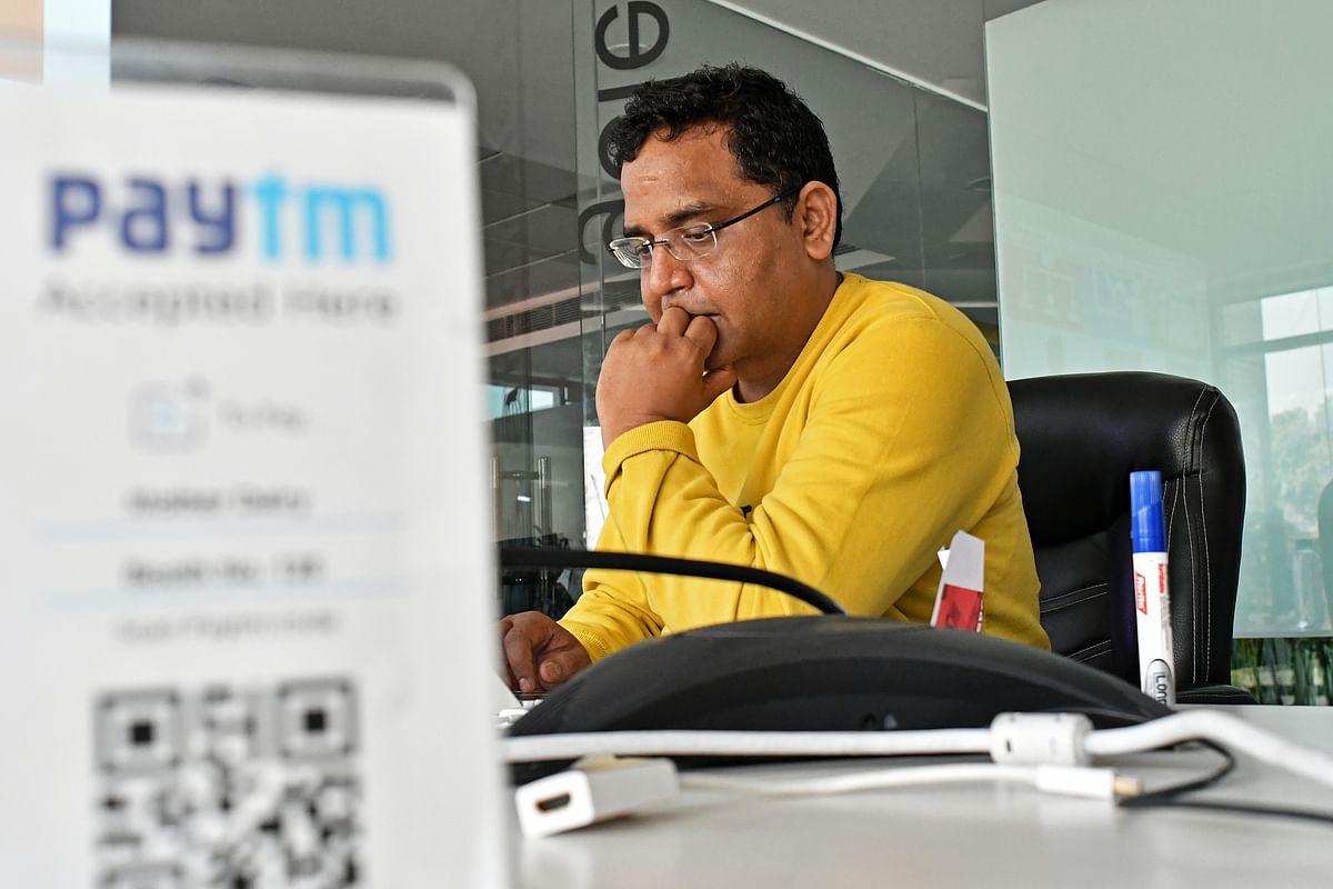 Vijay Shekhar Sharma, founder and chairman of One97 Communications Ltd., operator of Paytm. (Photographer: Anindito Mukherjee/Bloomberg)