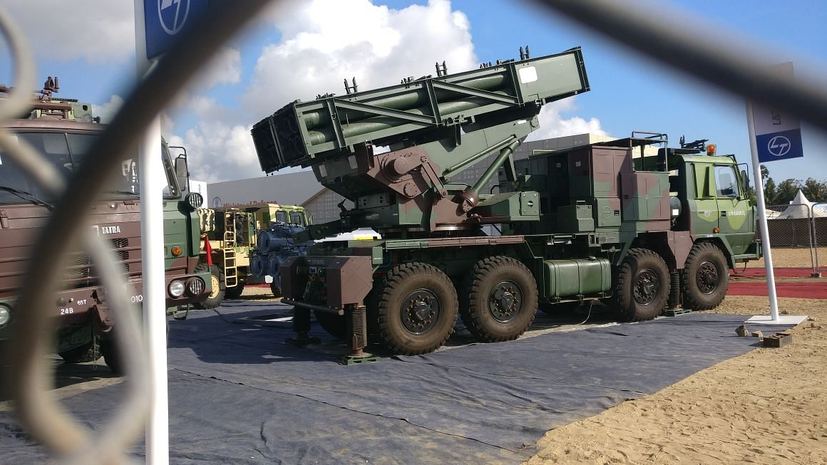 Vehicle Mounted Rocket Launchers by L&T. (Source: BloombergQuint)