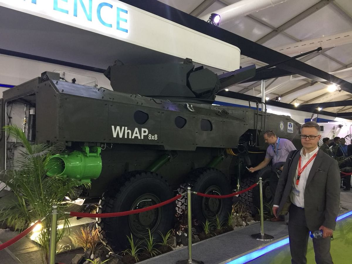Wheeled Armoured Amphibious Platform by Tata Defence and Aerospace. (Source: BloombergQuint)