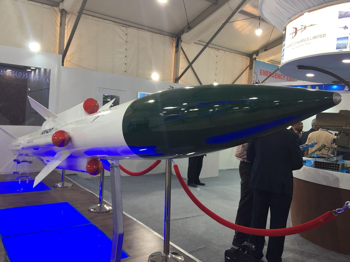 Akash Missile System by Bharat Dynamics on display at Defence Expo 2018. (Source: BloombergQuint)