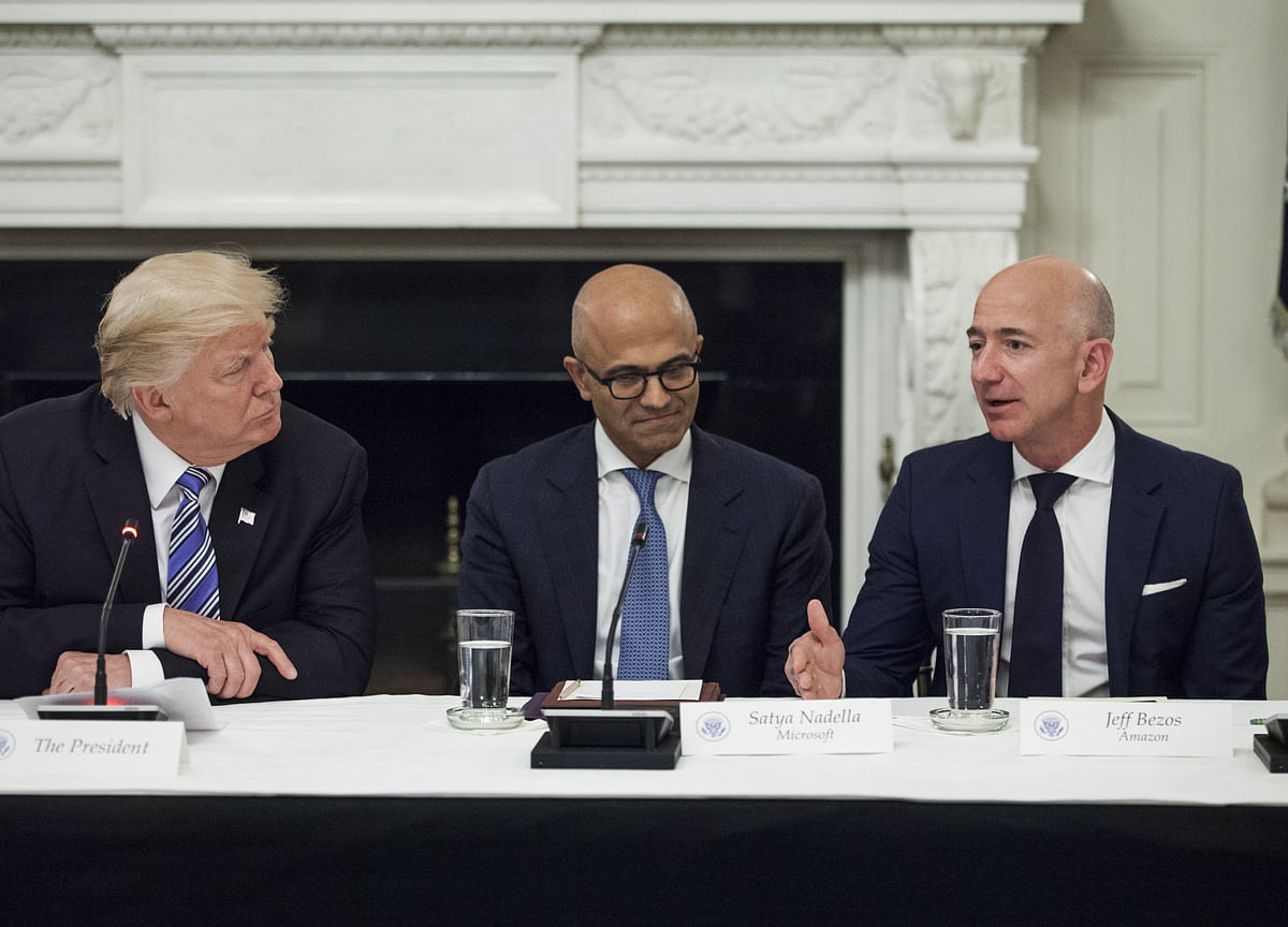 Amazon Cites Trump Bias at 'Enemy' Bezos in Cloud Deal Loss