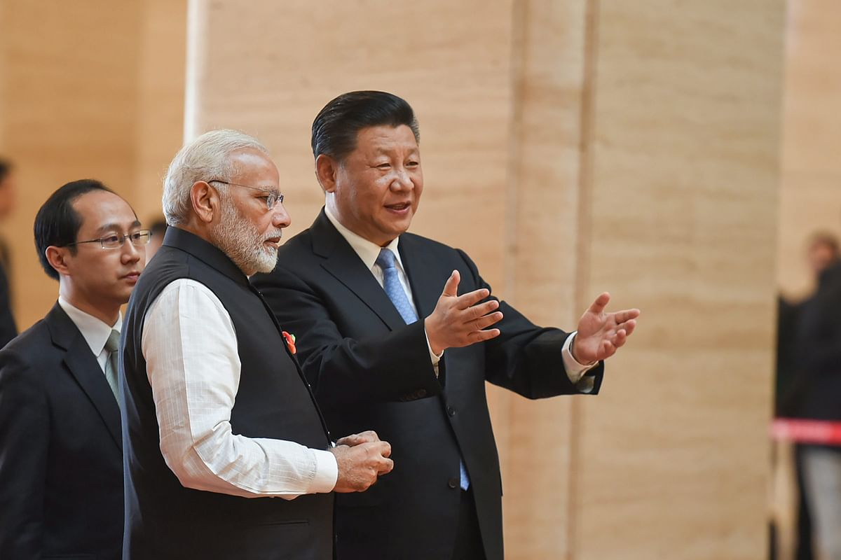 Prime Minister Narendra Modi with Chinese President Xi Jinping, in Wuhan, China on April 27, 2018. (Photograph: PTI)