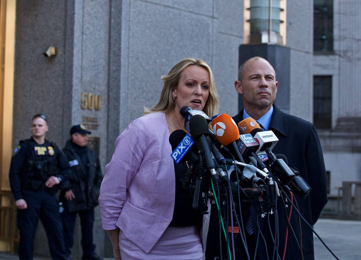 Trump Salvo by Daniels's Lawyer Forces Global Damage Control