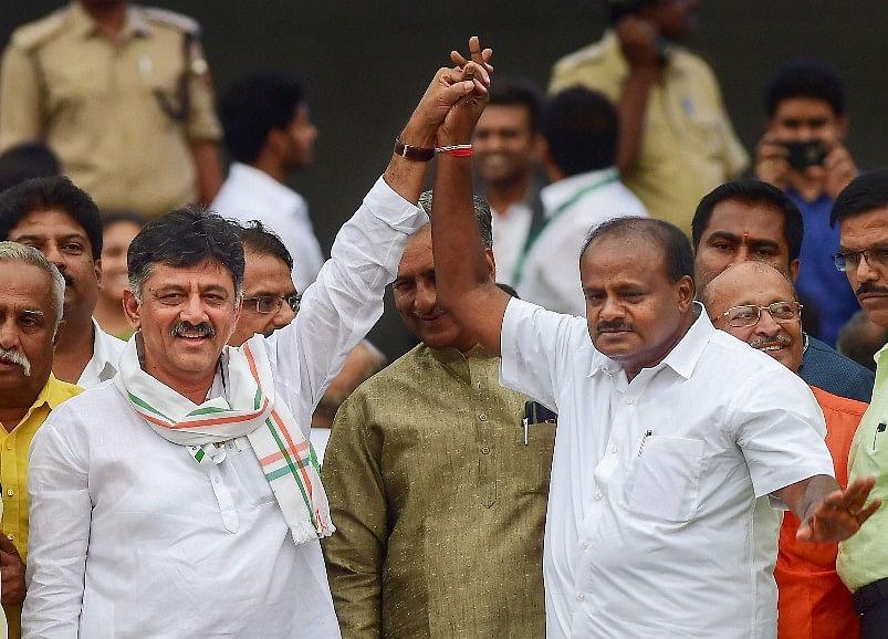 Karnataka Floor Test: Kumaraswamy Wins Trust Vote After BJP Walk-Out