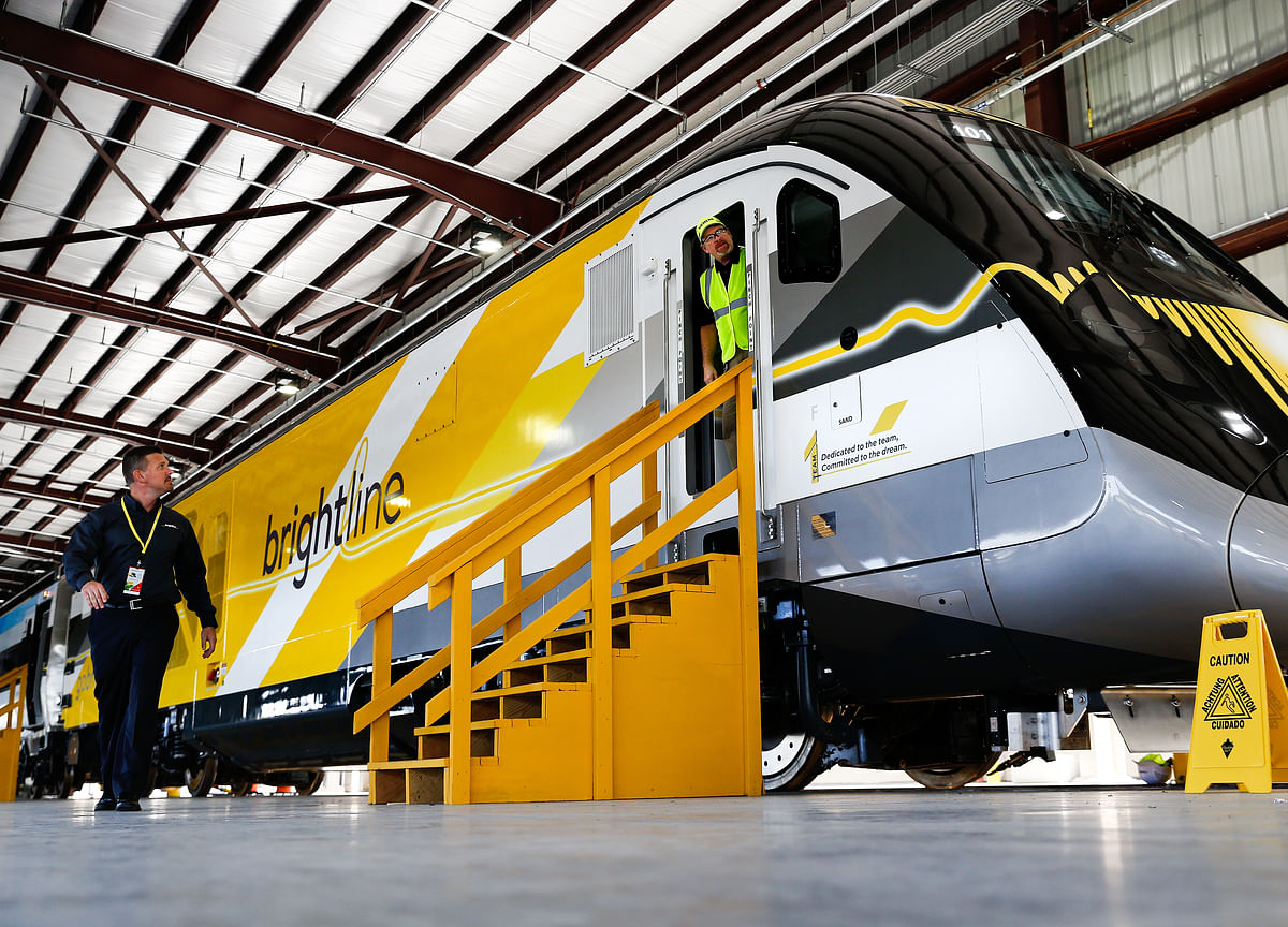 One-of-a-Kind Private Train Takes On Florida's Traffic Nightmare