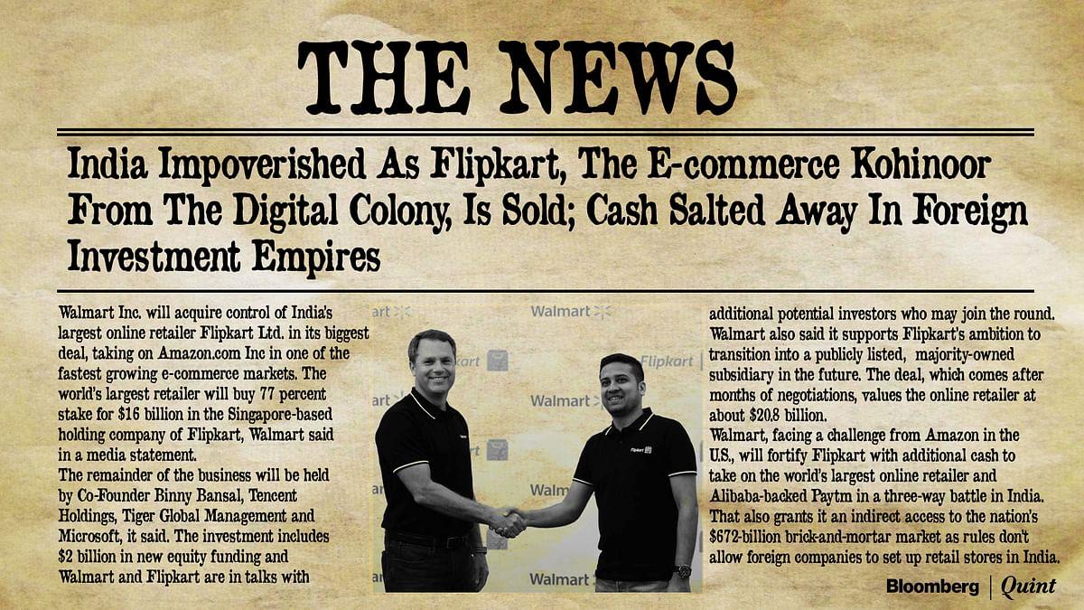 Walmart-Flipkart: Young Entrepreneurs' Pride, Government's Shame