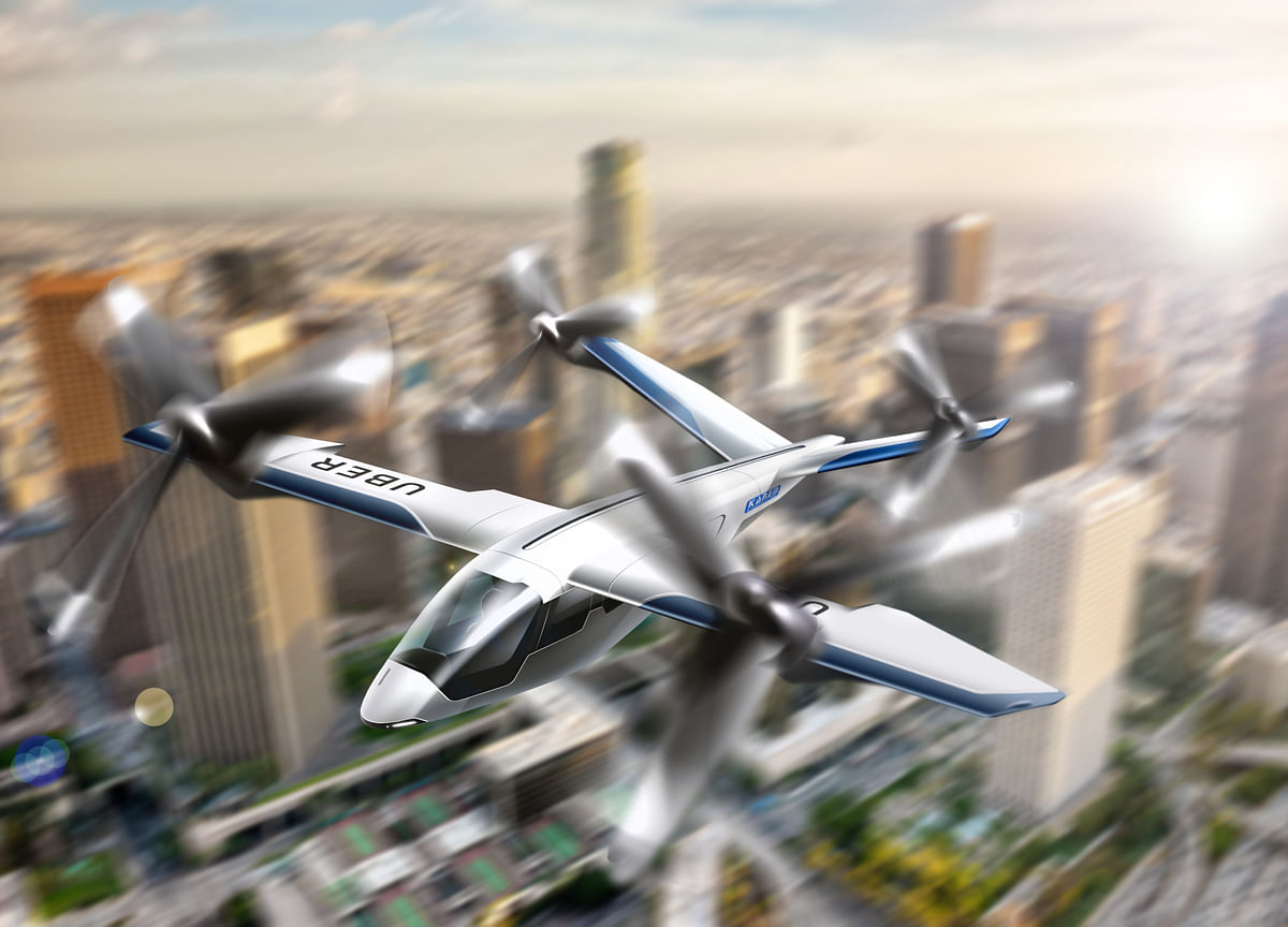 Uber Plans Paris Flying-Car Lab as CEO Sees Future in 3D