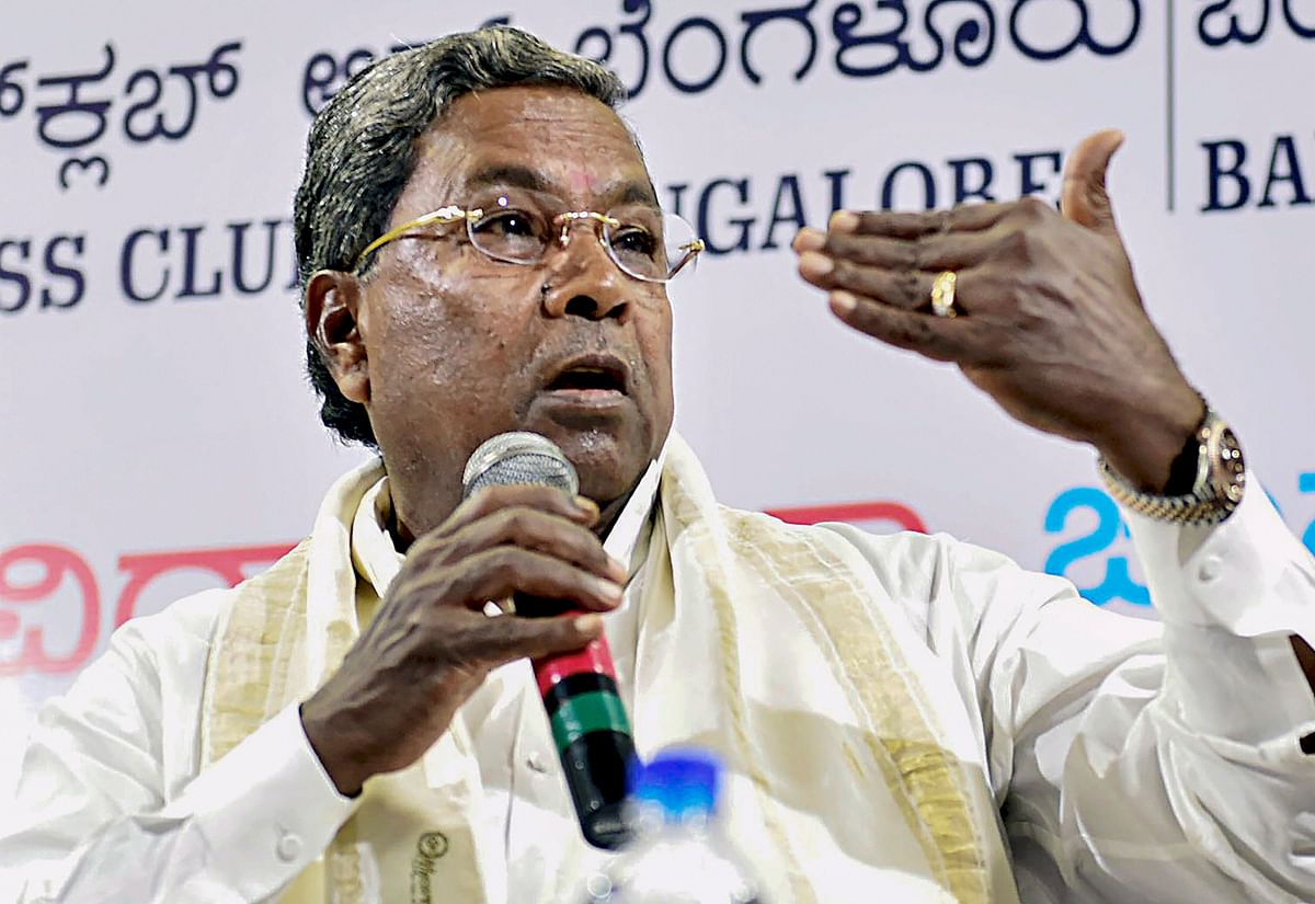 Karnataka Chief Minister Siddaramaiah during 'Meet the Press'  programme at the Press Club in Bengaluru. (Source: PTI)