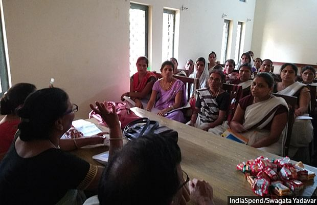 ASHA workers at a training session on non-communicable diseases in Farrukhabad.