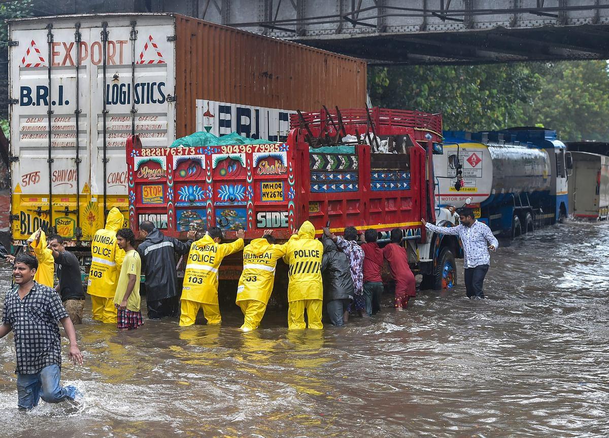 Heavy Rains Lash Mumbai, Road Overbridge Collapses In Suburb