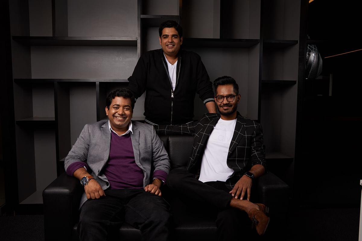 Roman Saini (left), Gaurav Munjal (centre), Hemesh Singh. (Source: Unacademy )