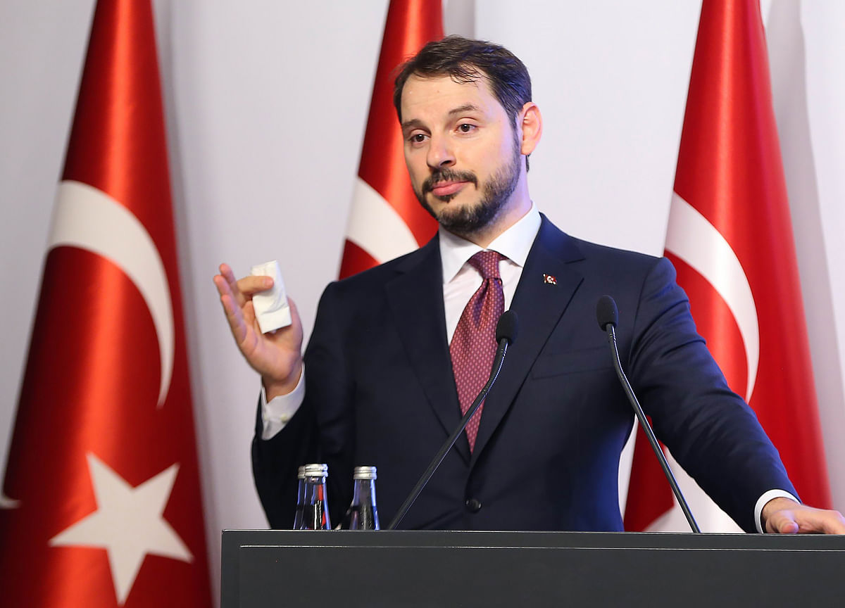 Turkish Finance MinisterRules Out Capital Controls as Policy Option