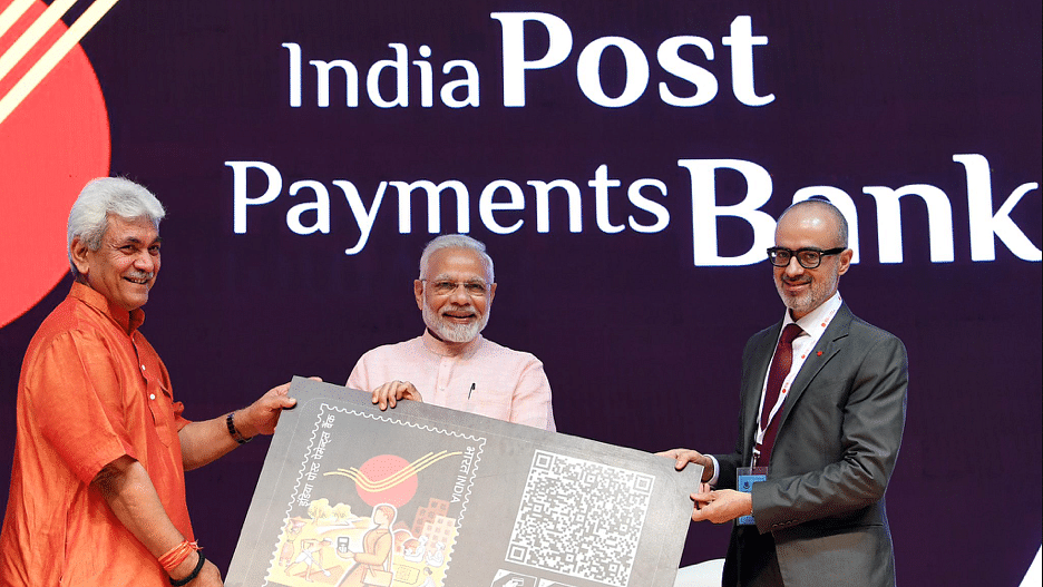 Prime Minister Narendra Modi at the launch of India Posts Payments Bank. (Source: India Post)