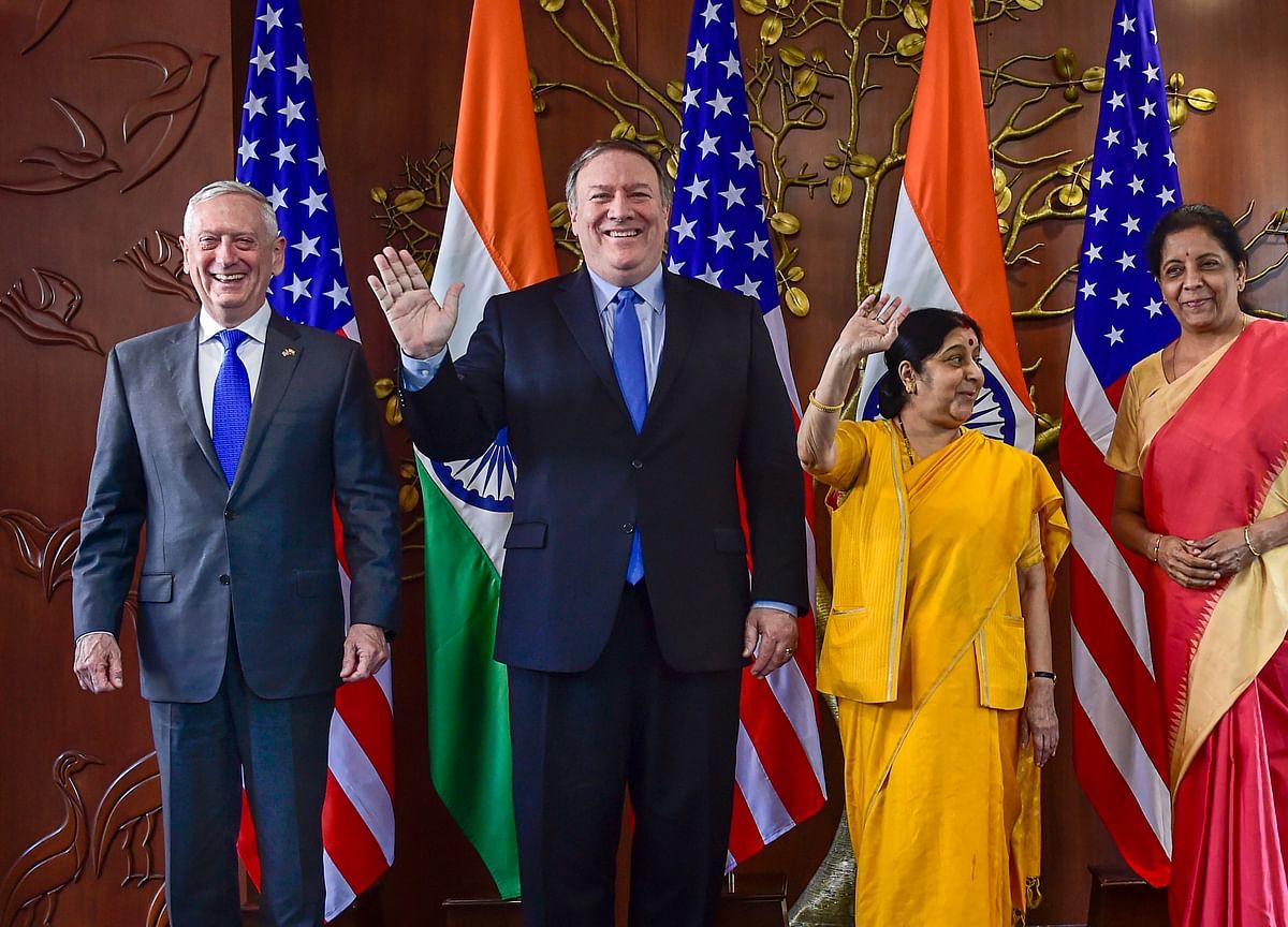 2+2 Talks: India, U.S. Ink Critical Defence Pact; Discuss Cross-Border Terror, H-1B