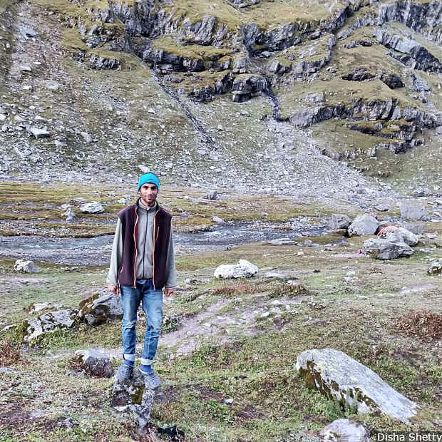 Karan Sharma, 23, talks about the impact of climate change on his livelihood and that of others in his village.