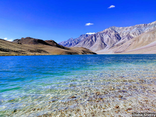 High altitude lakes such as the Chandratal at a height of 16,000 feet above sea level in Spiti district act as natural dams for melting glacier water. As melting speeds up, these natural dams could overflow and cause floods.