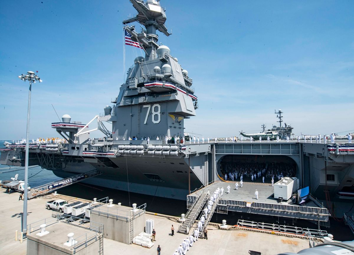 U.S. Navy's Costliest Carrier Was Delivered Without Elevators to Lift Bombs
