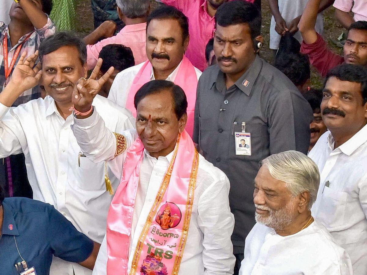 TRS chief K Chandrasekha in Hyderabad, on Dec. 11, 2018. (Photograph: PTI)
