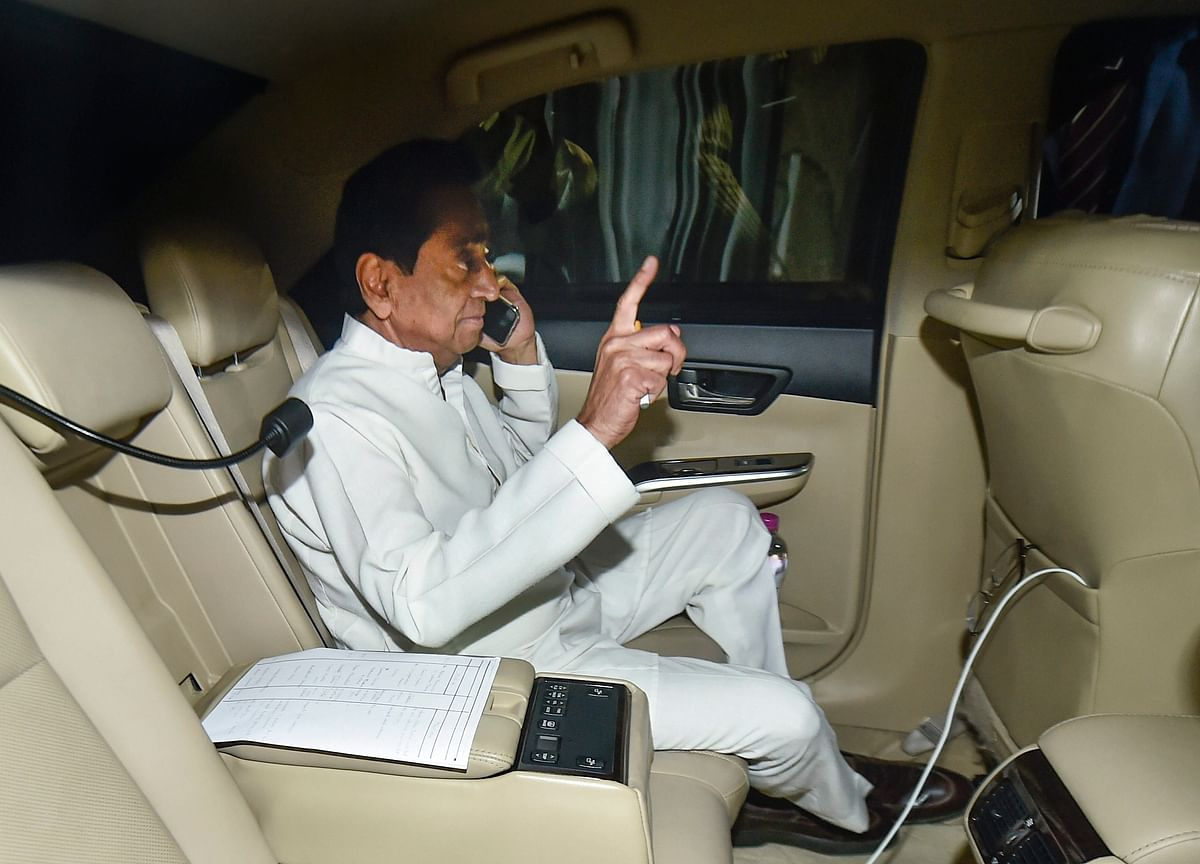 BJP Protests Outside Kamal Nath's Residence Over UP-Bihar Remark