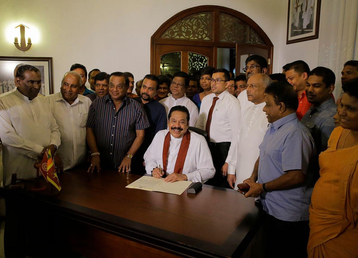 Rajapaksa Resigns As Sri Lanka's Prime Minister