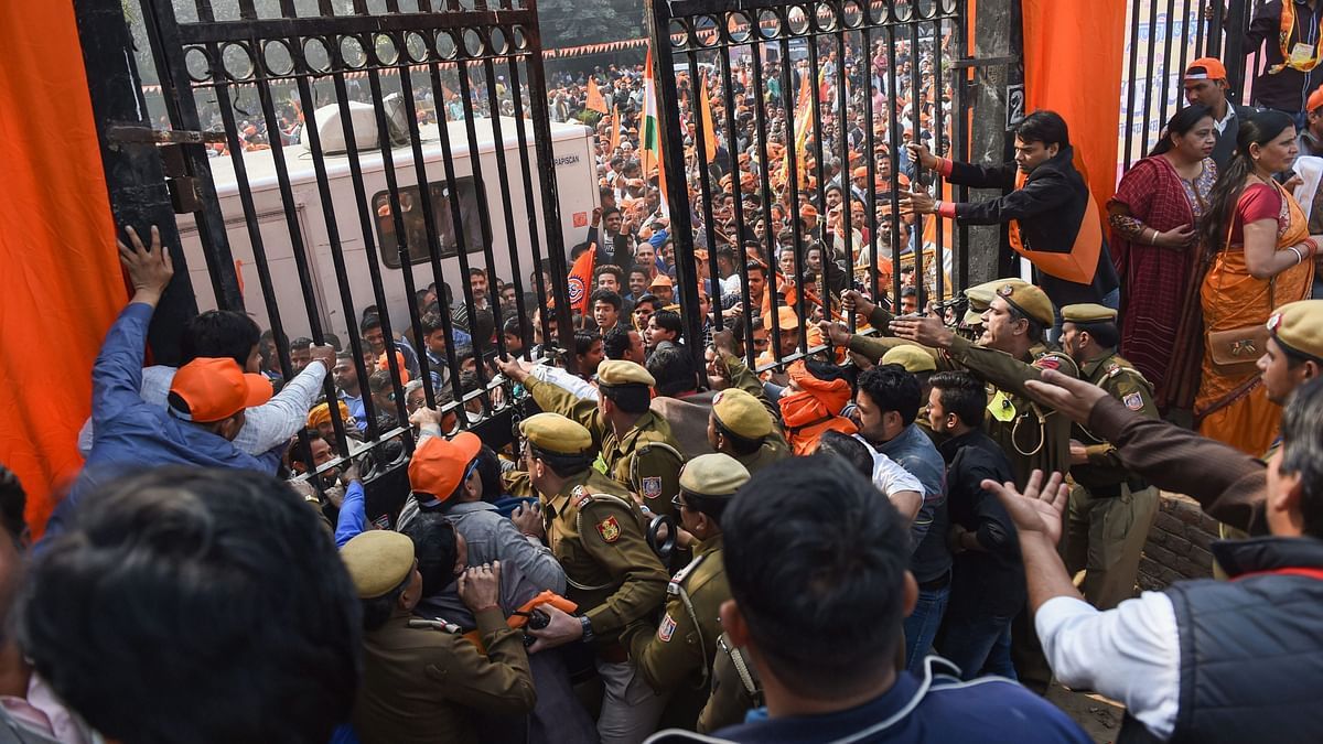 Vikas Nahi, Ram Mandir Chahiye: Supporters at VHP's Delhi Rally