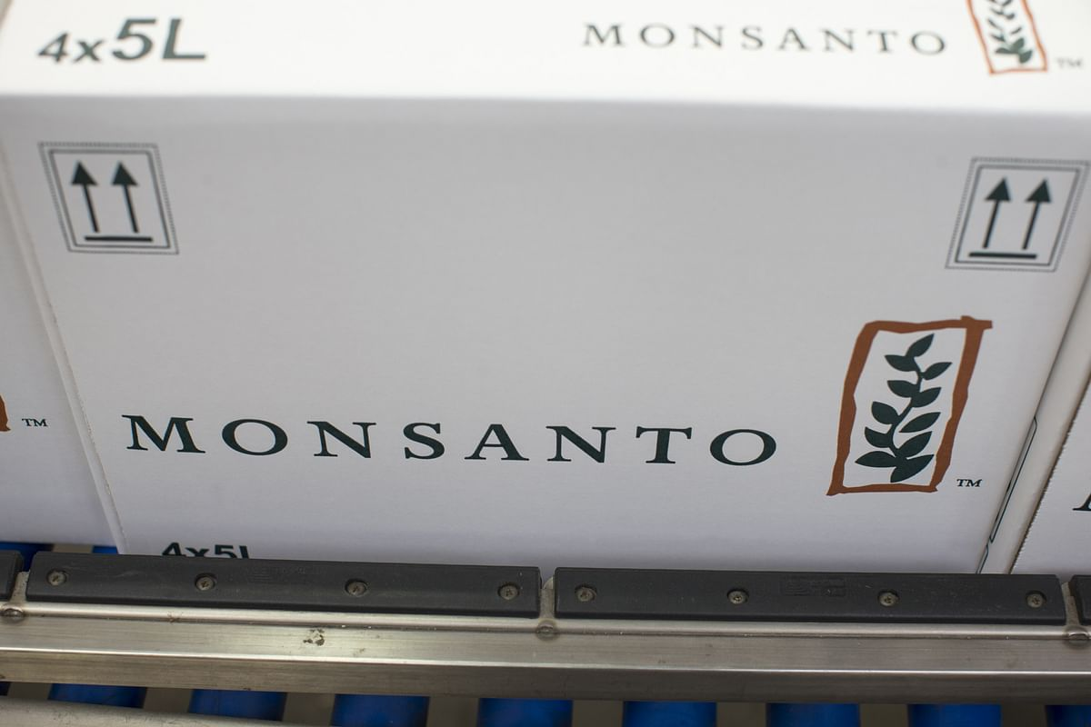 Boxes of Monsanto's products at a manufacturing and packaging facility. (Photographer: Jasper Juinen/Bloomberg)
