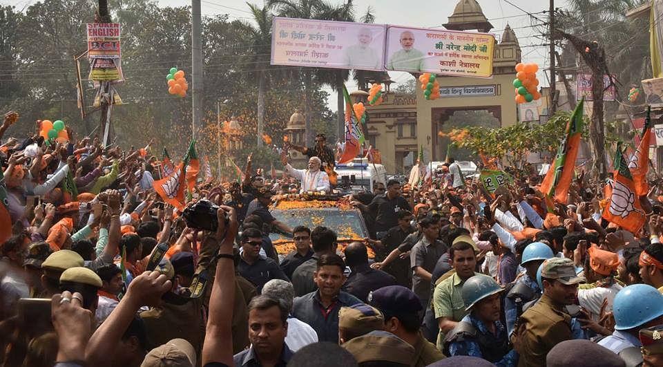 Narendra Modi in his parlimanetary constituency of Varanasi. (Photograph: Narendra Modi / Flikr)