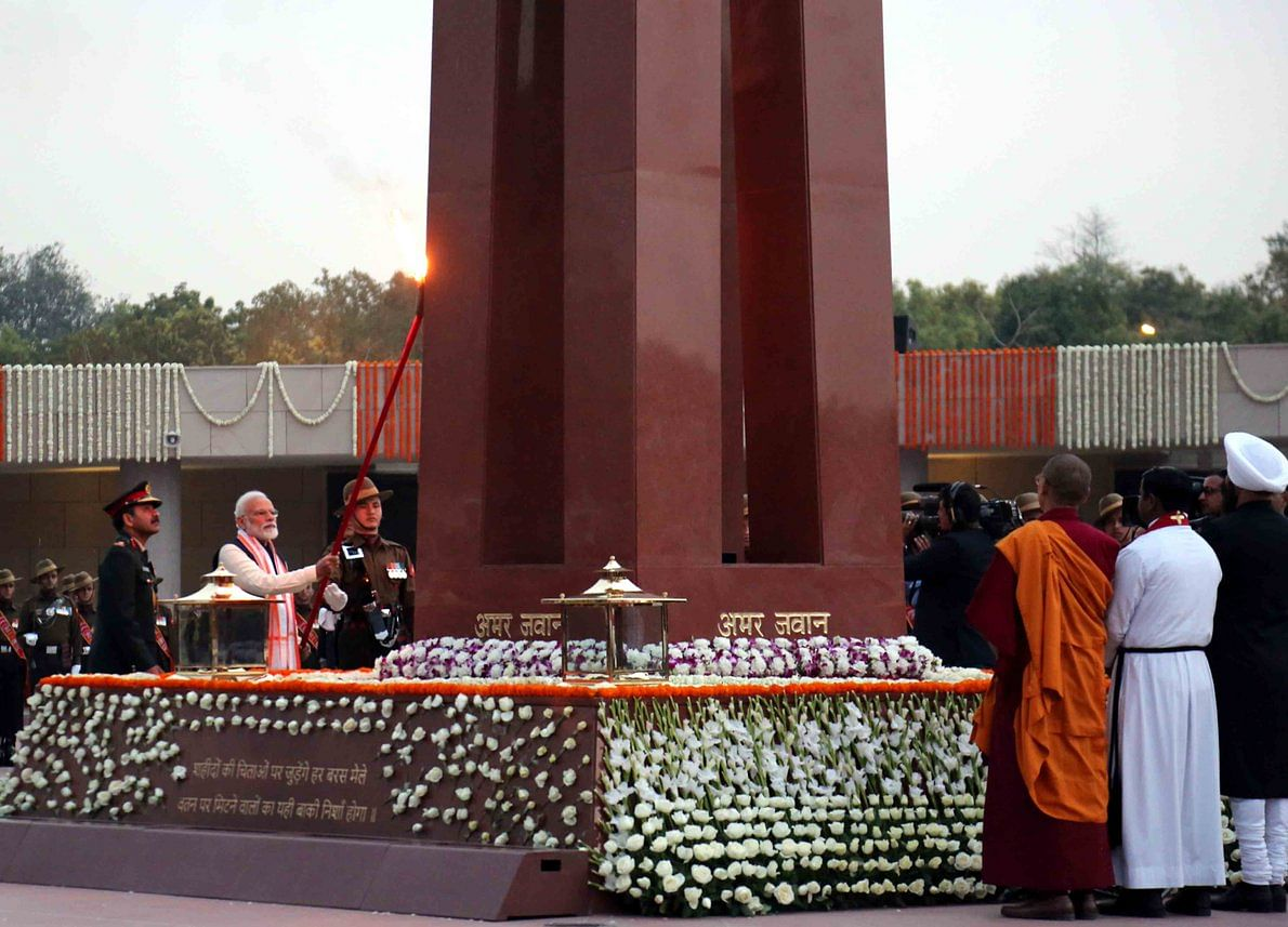 PM Inaugurates National War Memorial, Says Cong 'Blocking' Rafale