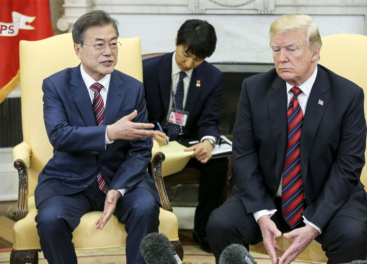 Moon Shows Trump He's Acting Tough on North Korea Before Summit