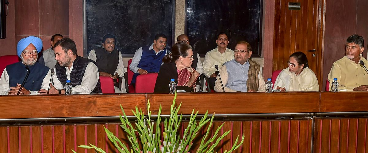 An opposition parties meeting in New Delhi on Feb. 27, 2019. (Photograph: PTI)