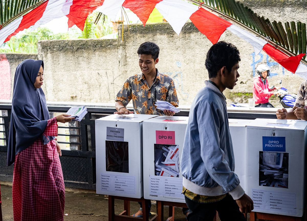 After Record One-Day Indonesia Election, Result Still Weeks Away