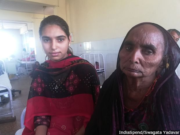 Shankari Bai (right) has been suffering from COPD for the last five to six years and cannot walk long distances. She has not been prescribed inhalers.