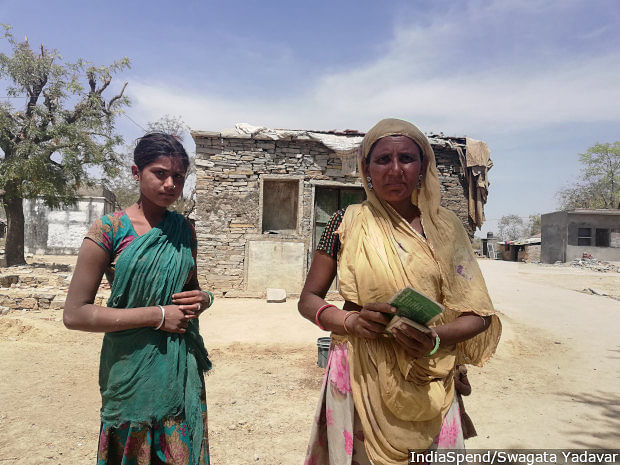 Sumitra Bai from Acchoda village has yet to get a gas connection despite many requests.