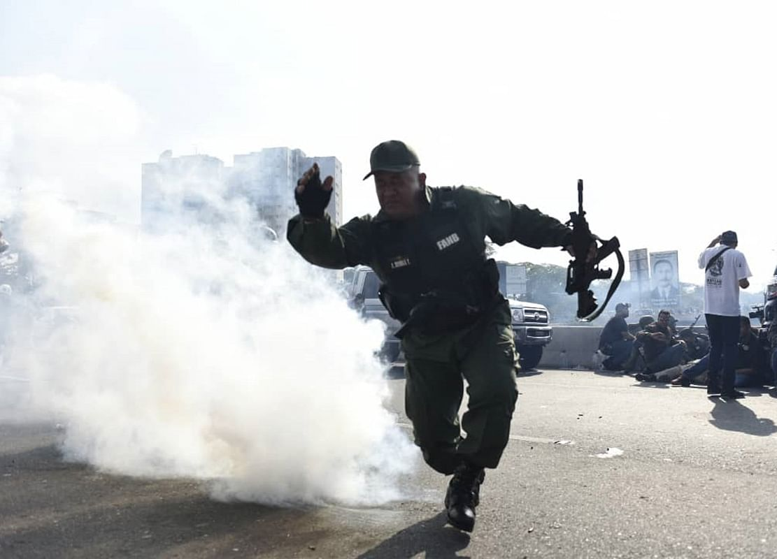 Guaido Returns to Clashes in Venezuela After Meeting Trump