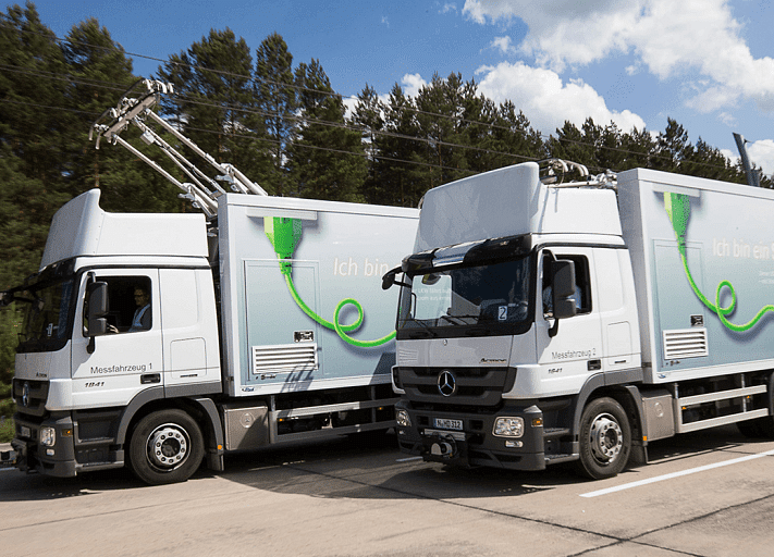 Germany's First 'Electric' Highway Charges Trucks as They Drive