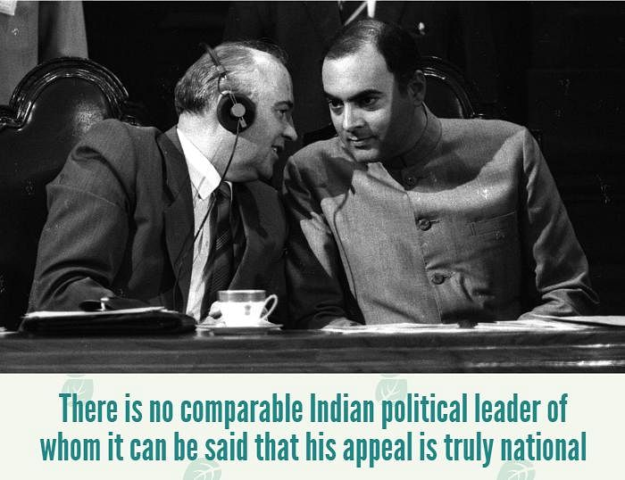 Mikhail Gorbachev confers with his host, Indian Prime Minister Rajiv Gandhi, during a special session of Parliament addressed by the Soviet leader on November 27, 1986. (Photo: Reuters)