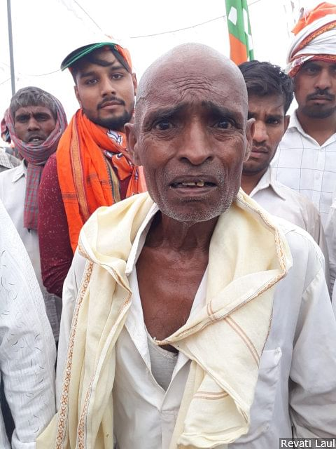 """Daily wage labourer Mahi Lal (75), a Dalit, did not listen to much of the Prime Minister's speech at a rally in Lalanagar in Bhadohi district. As he saw this reporter approach, he folded his hand, pleading: """"I am getting my rations and that's all."""""""