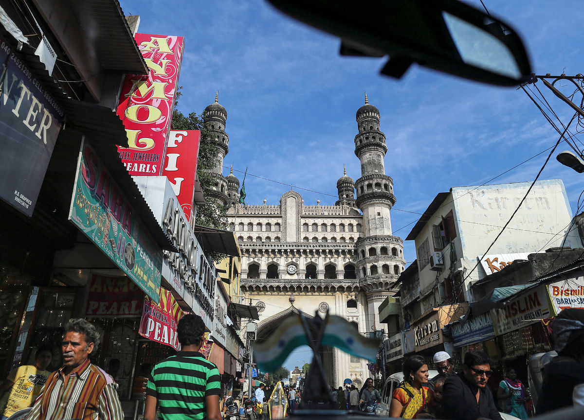 Charminar Suffers Damage As Portion Of Stucco Falls Off