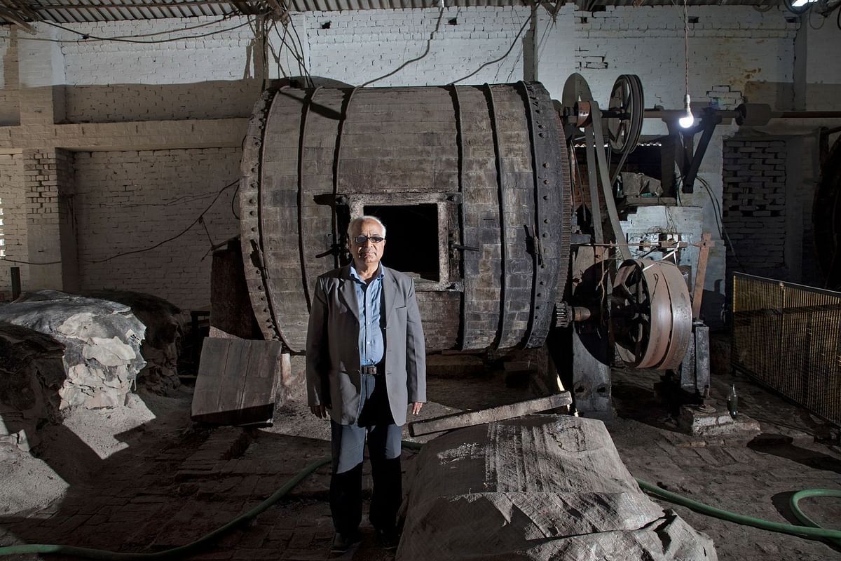 Naiyer Jamal is an owner of a tannery in Kanpur. The entire industry has been shut down in the area since December. (Photographer: Anshika Varma for Bloomberg Businessweek)