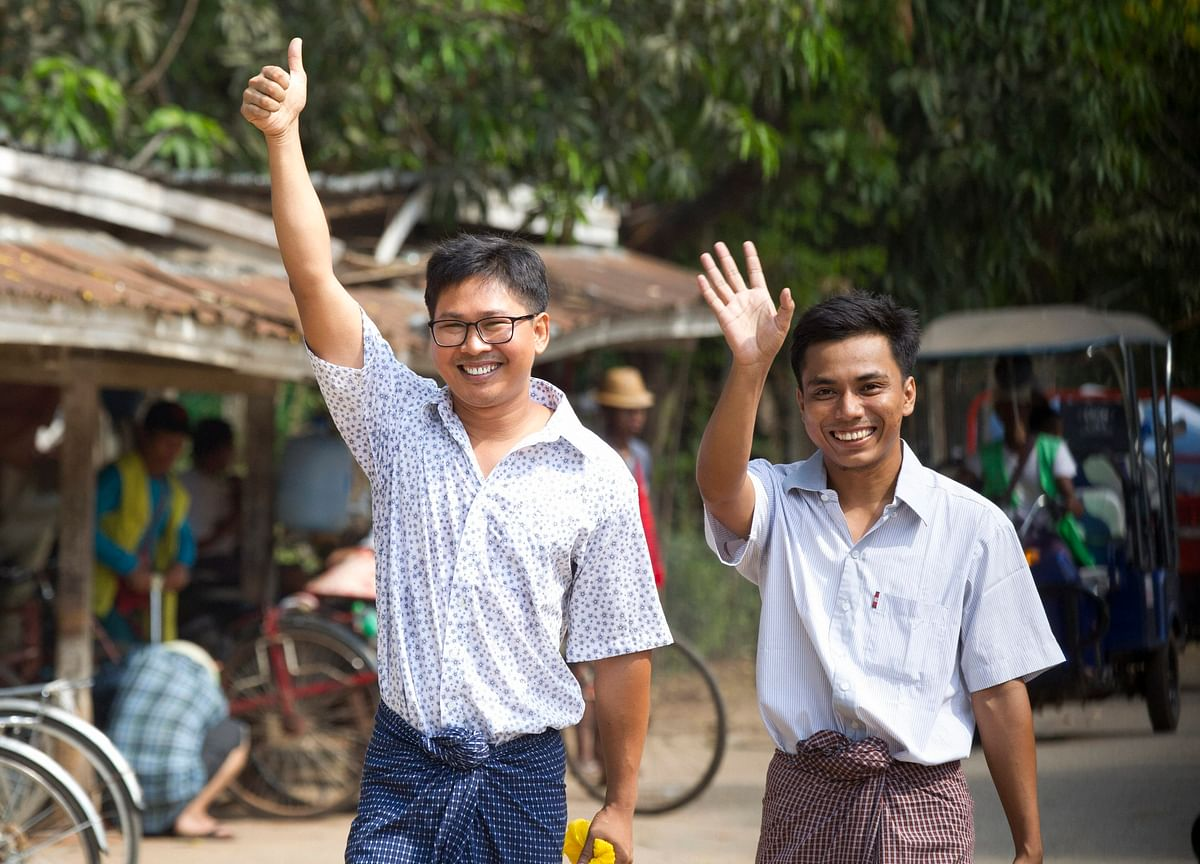 Myanmar Releases Two Reporters Jailed Over Rohingya Reports