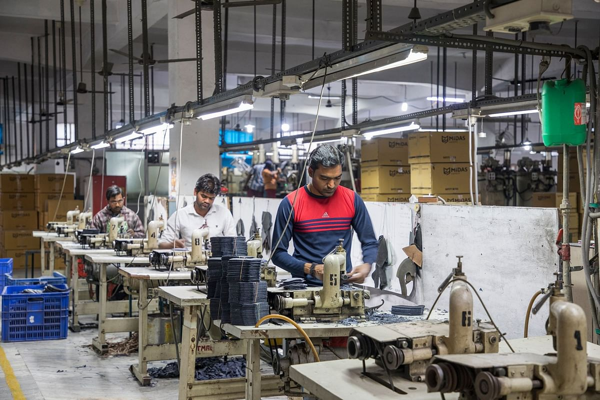 Production at the Jajmau Tanneries CETP Co. in Kanpur. (Photographer: Anshika Varma for Bloomberg Businessweek)