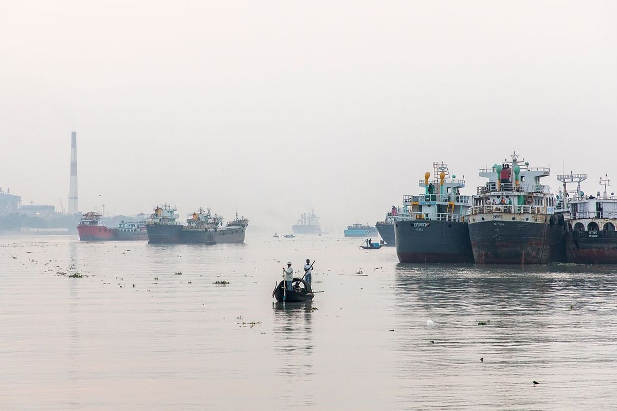 The Port of Kolkata is the most important port for the Inland Waterways Authority of India. (Photographer: Anshika Varma for Bloomberg Businessweek)