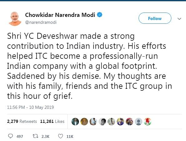 India Inc. Remembers YC Deveshwar