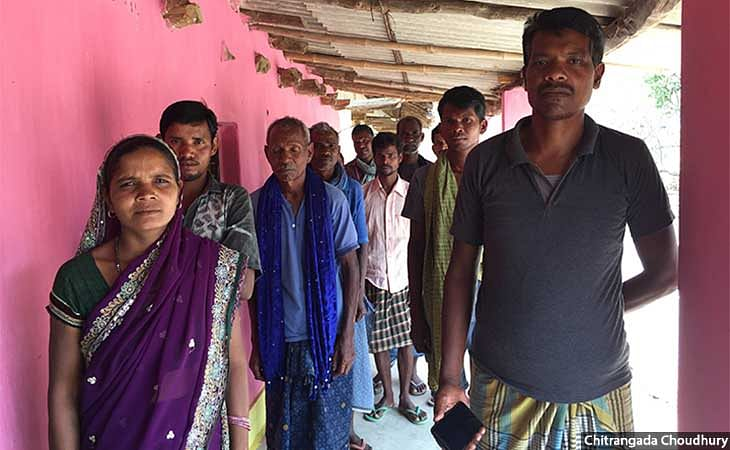 Villagers in Baday Salhi said they chased away labourers and officials who tried to put pillars on their lands for the plantation project.