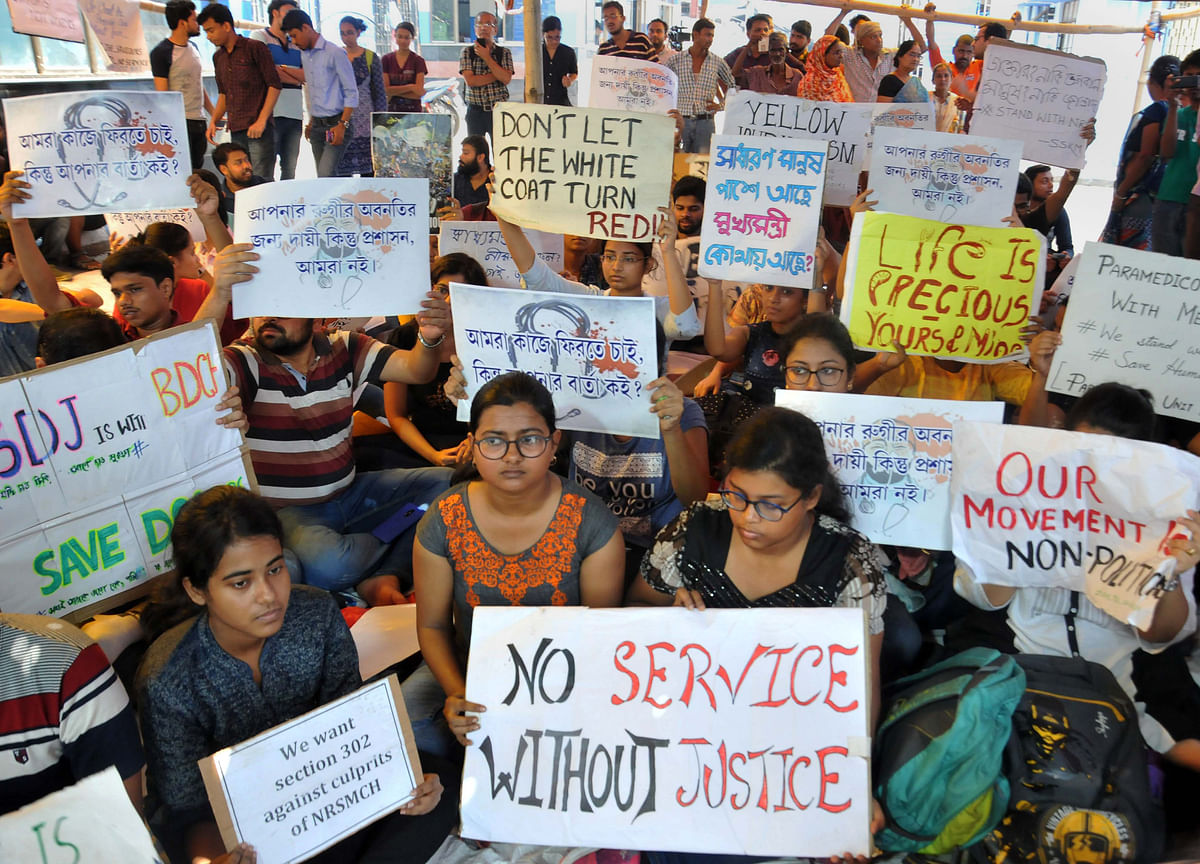 Doctors' Stir In West Bengal Enters Sixth Day