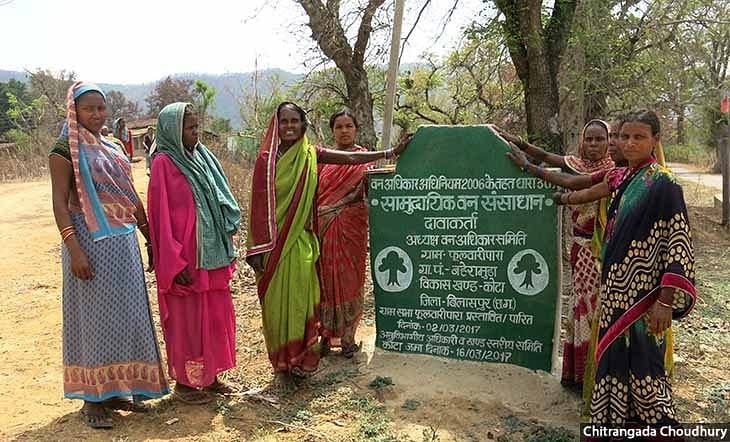Baiga tribeswomen in Phulwaripara village in Chhattisgarh's Bilaspur district protested against plantations in their village in October 2018. They spent 17 days in prison after the local forest department booked them, and are currently out on bail.