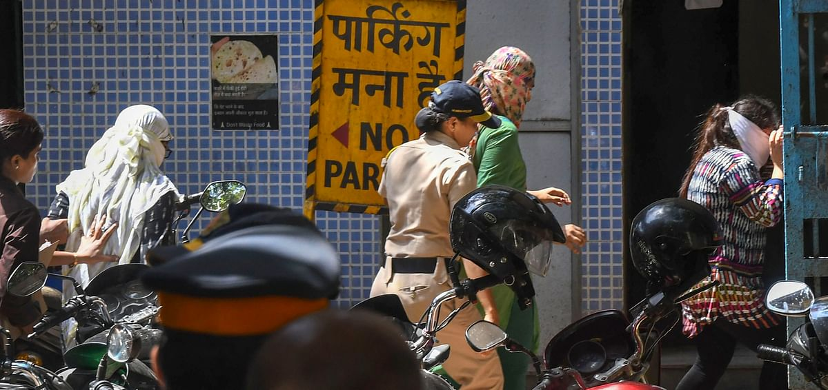 The three doctors accused in the Payal Tadvi suicide case arrive at session court, in Mumbai. (Photographer: Shashank Parade/PTI)