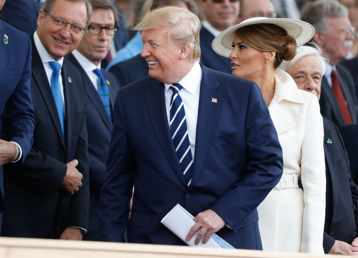 The Latest on Trump's D-Day Commemorations in France