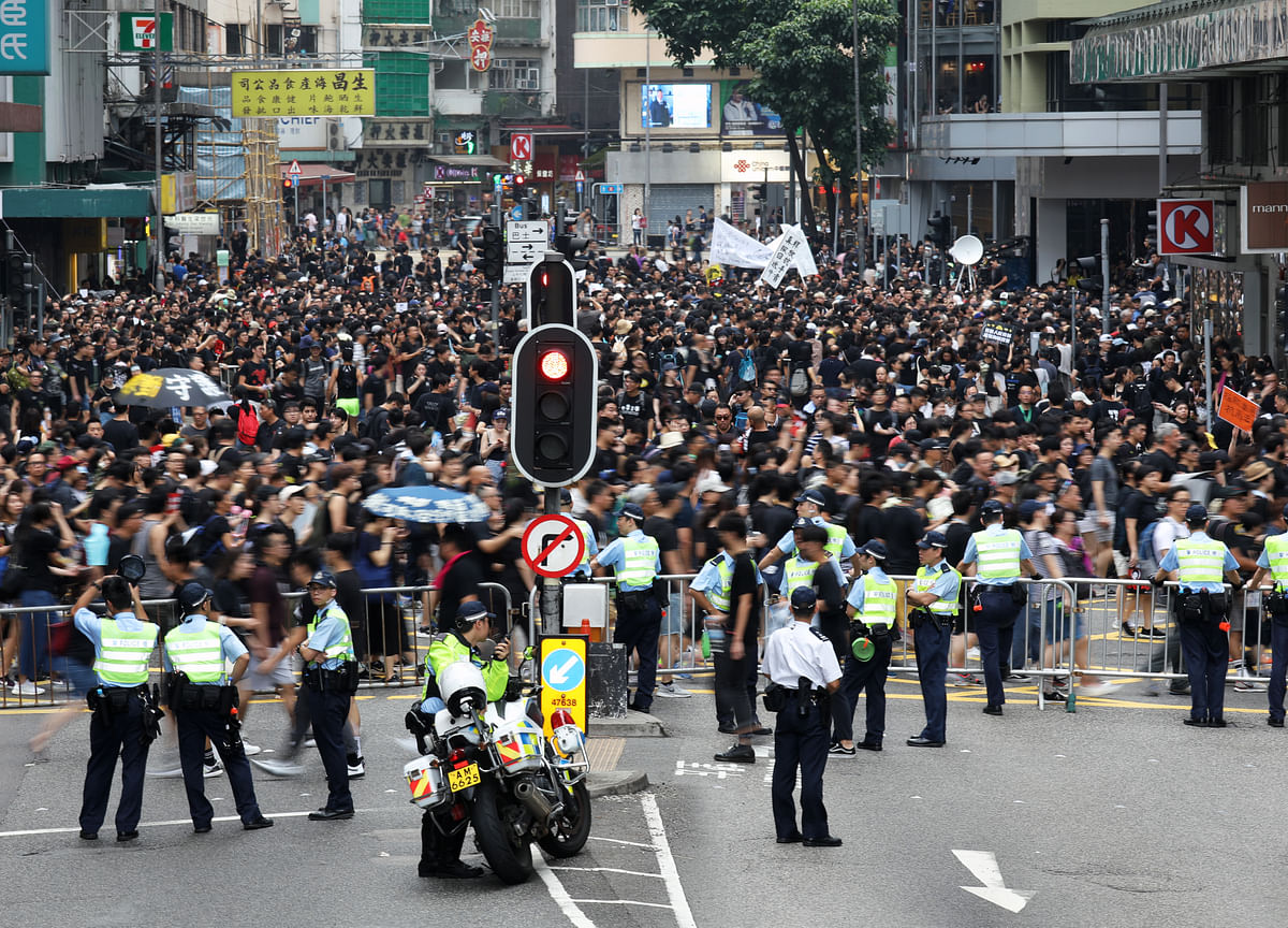 Protesters Swell in the Streets of Hong Kong Calling for Leader to Resign